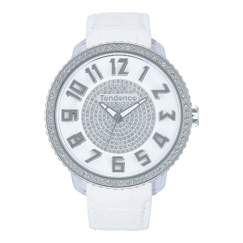GLAM 47 3H WHITE FULL STONE LEATHER